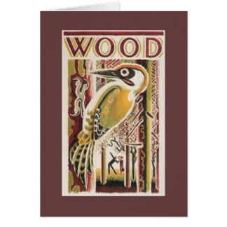 木製のキツツキDeco グリーティングカード