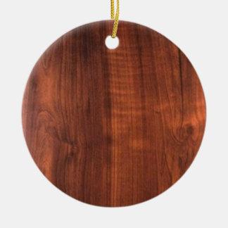 木製のクルミの一見の買物のブランクBlanc Blanche + 文字 陶器製丸型オーナメント