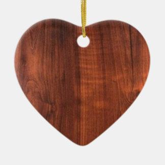 木製のクルミの一見陶磁器のBlanc Blanche + 文字 セラミックオーナメント
