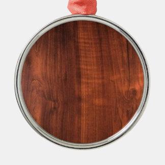 木製のクルミの終わりの買物のブランクBlanc Blanche + 文字 シルバーカラー丸型オーナメント