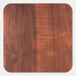 木製のクルミの終わりの買物のブランクBlanc Blanche + 文字 スクエアシール