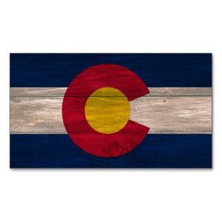 木製のコロラド州の旗の長方形の磁石のパック マグネット名刺