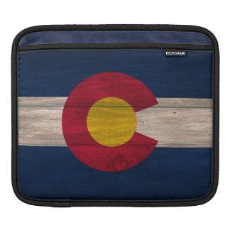 木製のコロラド州の旗のipadの袖 iPadスリーブ