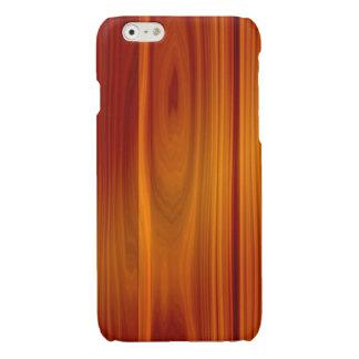 木製のチークのiPhone 6/6Sの精通した場合 光沢iPhone 6ケース