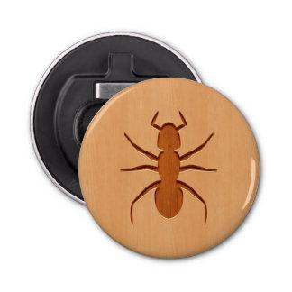 木製のデザインで刻まれる蟻のシルエット 栓抜き
