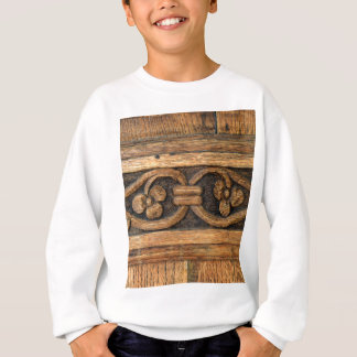 木製のパネルの彫刻 スウェットシャツ