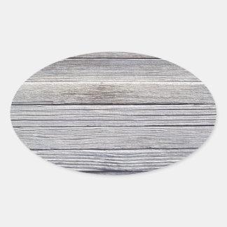 木製のパネル 楕円形シール