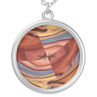 木製のブレンド、ネックレス シルバープレートネックレス