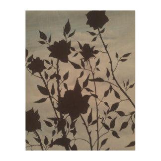 """木製のプラクの""""甘いあるバラ""""の芸術のプリント ウッドウォールアート"""