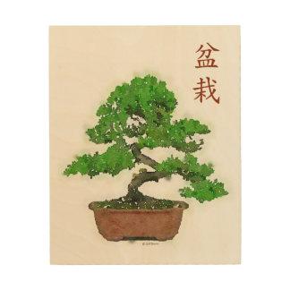 木製のプリント: 日本のな盆栽の木 ウッドウォールアート