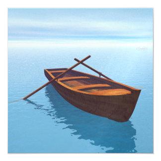 木製のボート- 3Dは描写します カード