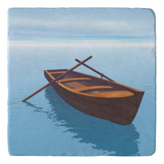 木製のボート- 3Dは描写します トリベット