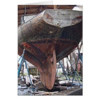 木製のヨット カード