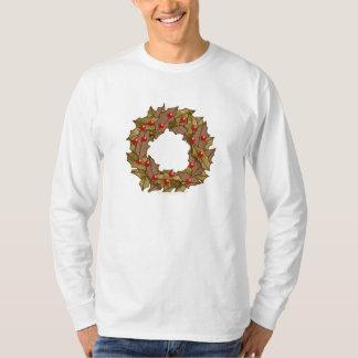 木製のリース Tシャツ