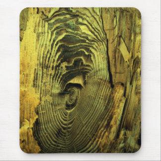 木製の動揺してな燃やされた流木 マウスパッド