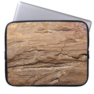 木製の化石の写真 ラップトップスリーブ