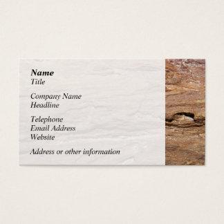 木製の化石の写真 名刺
