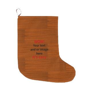 木製の基層はあなた自身の文字を加えます ラージクリスマスストッキング