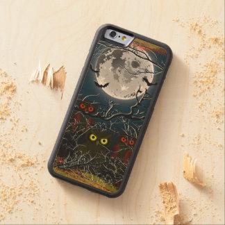 木製の場合のiPhone 6のハッピーハローウィン CarvedメープルiPhone 6バンパーケース