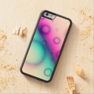 木製の場合のiPhone 6の泡抽象芸術 CarvedメープルiPhone 6バンパーケース