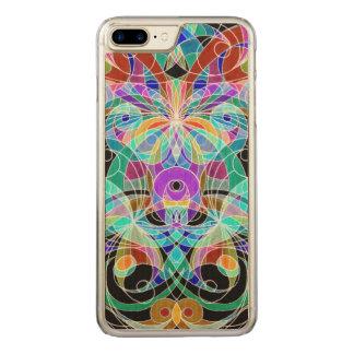 木製の場合のiPhone 7のプラスの民族のスタイル Carved iPhone 8 Plus/7 Plus ケース