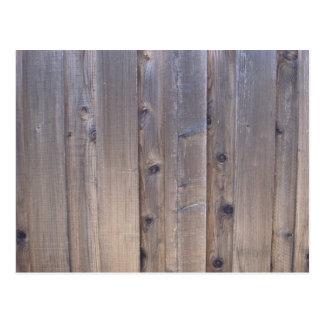 木製の塀 ポストカード