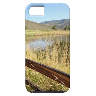 木製の塀、湖、空とのネバダの景色 iPhone SE/5/5s ケース