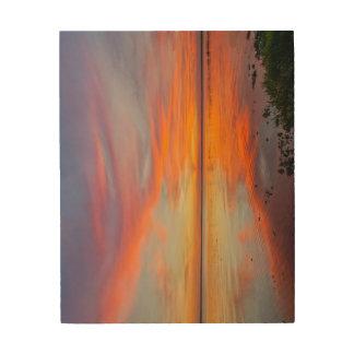 木製の壁の芸術の色彩の鮮やかな空 ウッドウォールアート