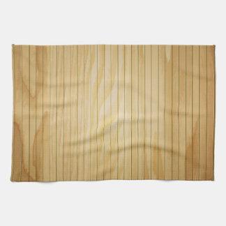 木製の壁の質 キッチンタオル
