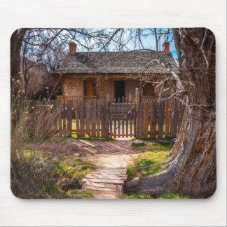 木製の家庭のGraftonのゴーストタウン-ユタ マウスパッド