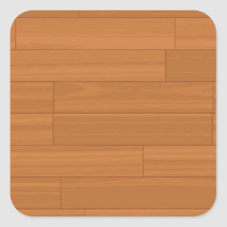 木製の寄木細工の床床パターン 正方形シール・ステッカー