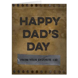 木製の幸せなパパの日のガムテープ ビッググリーティーングカード
