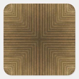 木製の床の万華鏡のように千変万化するパターンパターン 正方形シール・ステッカー