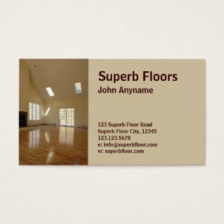 木製の床 名刺