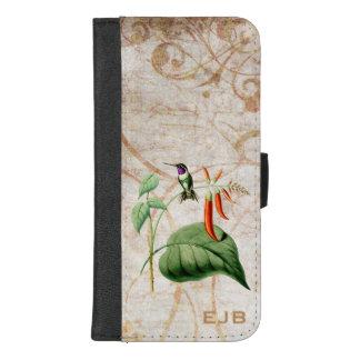 木製の星のハチドリ iPhone 8/7 PLUS ウォレットケース