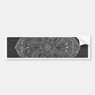 木製の曼荼羅の銀 バンパーステッカー