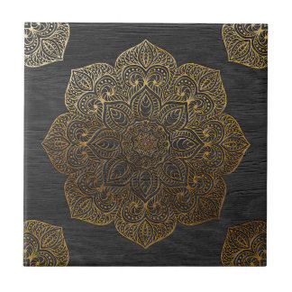 木製の曼荼羅金ゴールド タイル
