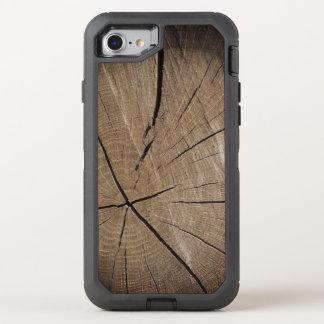 木製の木の幹の素朴なスタイル オッターボックスディフェンダーiPhone 8/7 ケース