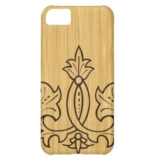 木製の穀物のアクセントのiPhone 5の場合 iPhone5Cケース