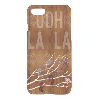 木製の穀物の一見のOohのLaの靴の枝 iPhone 8/7 ケース