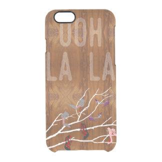 木製の穀物の一見のOohのLaのLaの靴の枝 クリアiPhone 6/6Sケース