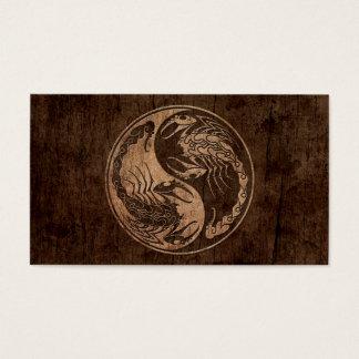 木製の穀物の効果の陰陽の蠍 名刺