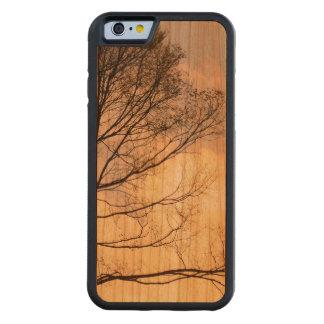 木製の穀物の木の影 CarvedチェリーiPhone 6バンパーケース