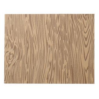 木製の穀物の質 ノートパッド
