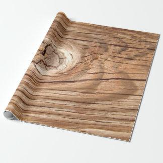 木製の穀物のKnotholeの包装紙 ラッピングペーパー