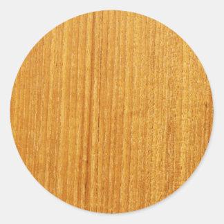 木製の穀物パターン ラウンドシール