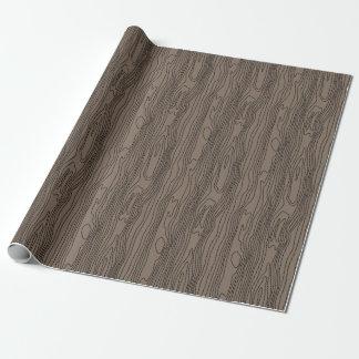 木製の穀物パターン ラッピングペーパー