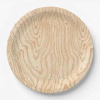 木製の穀物 ペーパープレート