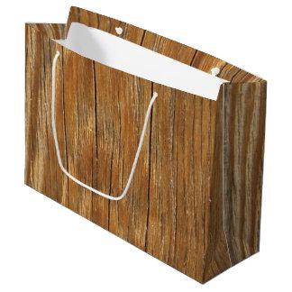 木製の穀物 ラージペーパーバッグ