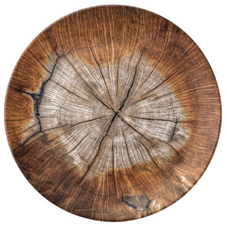 木製の穀物 磁器プレート